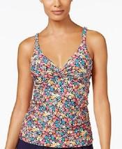 NEW Anne Cole Romance Floral Underwire Tankini Swim Top size 34 D - $29.69
