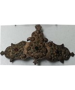 Vintage Traditional Silver Plated Buckle with carving Thrace Greece - $233.40