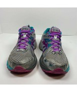 Brooks Womens Adrenaline GTS 17 Running Shoes Silver Low Top Lace Up Mes... - $15.99