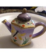 Miniature painted porcelain teapot for curio shelf cabinet - $11.00