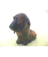 AVON BABY BASSETT HOUND BOTTLE PUPPY DOG FIGURINE GLASS NICK KNACK COLLE... - $6.00