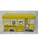 Peanuts Pinecrest Elementary School School Bus Tin with 3 Glasses - $89.98