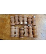 12 Spindles 4 Have Been Filled In & Sanded Where Wood Had Chipped Off-4 ... - $11.13