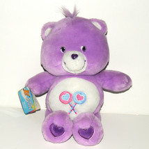 Care Bears Share Bear 13 inch 2002 Heart Lollipops Plush Play Along Teddy - $13.97
