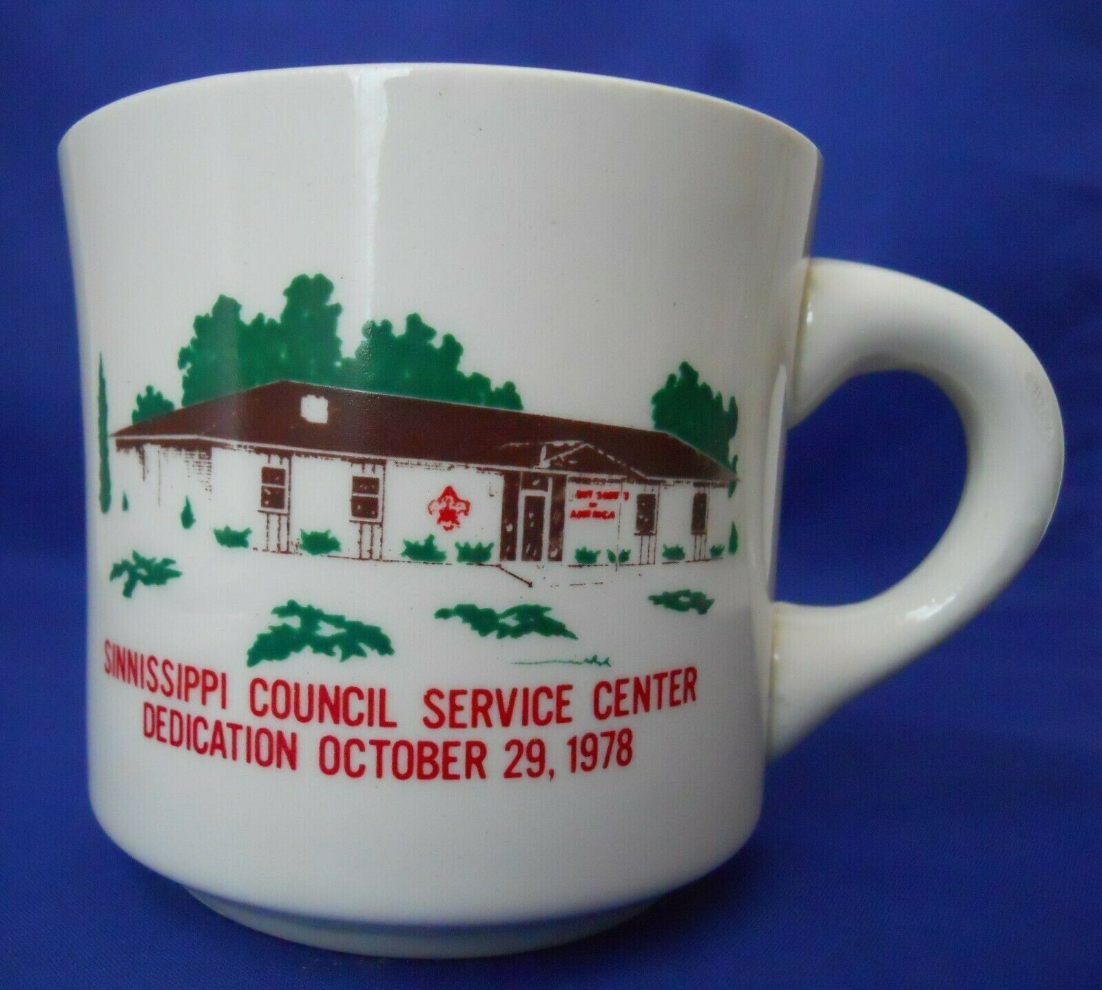 Vintage Sinnissippi Council Service Center Boy Scouts B.S.A Coffee Mug Cup 1978 - $3.50