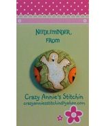 Glittery Ghost Needleminder fhalloween fabric c... - $7.00