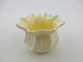 Rose Bowl Cache Pot Vase Nautilus IRISH BELLEEK Porcelain Brown Mark, 7t... - $24.45