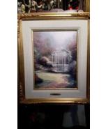 Thomas Kinkade Lilac Gazebo 16 x 12 20 / 95 Studio Proof Canvas Framed - $2,227.50