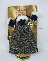 Mattel Barbie Doll Ring in the New Year 52742 Blue Gold Gown Musical Orn... - $24.18