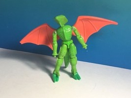 VINTAGE 1979 MEGO MICRONAUTS REPTO RARE GREEN ACTION FIGURE WINGS ALIEN ... - $39.55