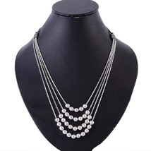 "925 Solid Sterling Silver Designer Ball Beaded Handcrafted Necklace 18"" - $95.77"