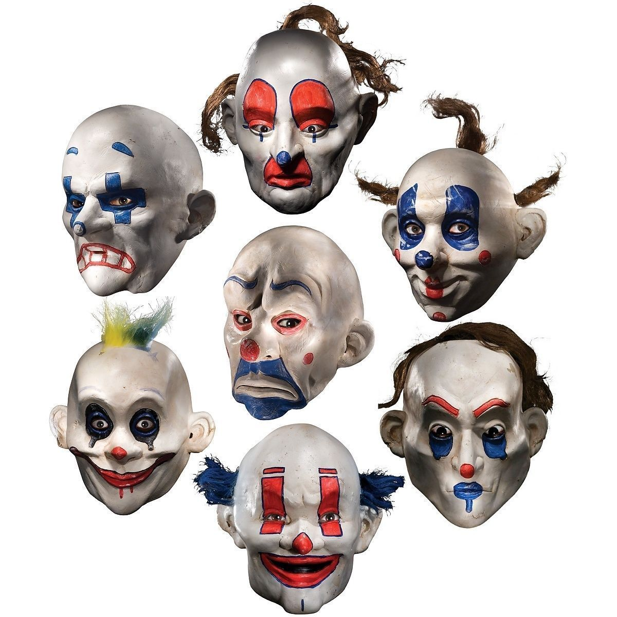 Image of Rubies Joker Henchmen Dark Knight Clown Adult Halloween Accessory Costume Mask