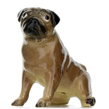 Hagen Renaker Dog Pug Mama Tan Ceramic Figurine - $9.49