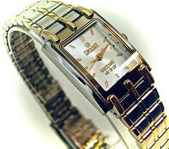 New Swistar 9582L Ladie's Precision Quartz Black Dial and Gold tone Watch  - £64.85 GBP