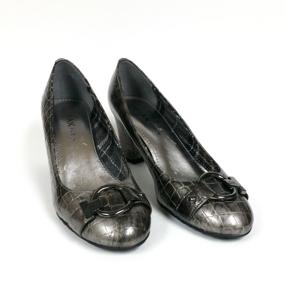 d84bf77c2f1 Anne Klein Fielding Pewter Color Shoes Size 7 M Crocodile Pattern -  59.99