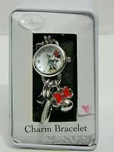 Accutime Disney Women's Minnie Mouse MN2218WM Silver Tone Analog Charm Watch - $17.75