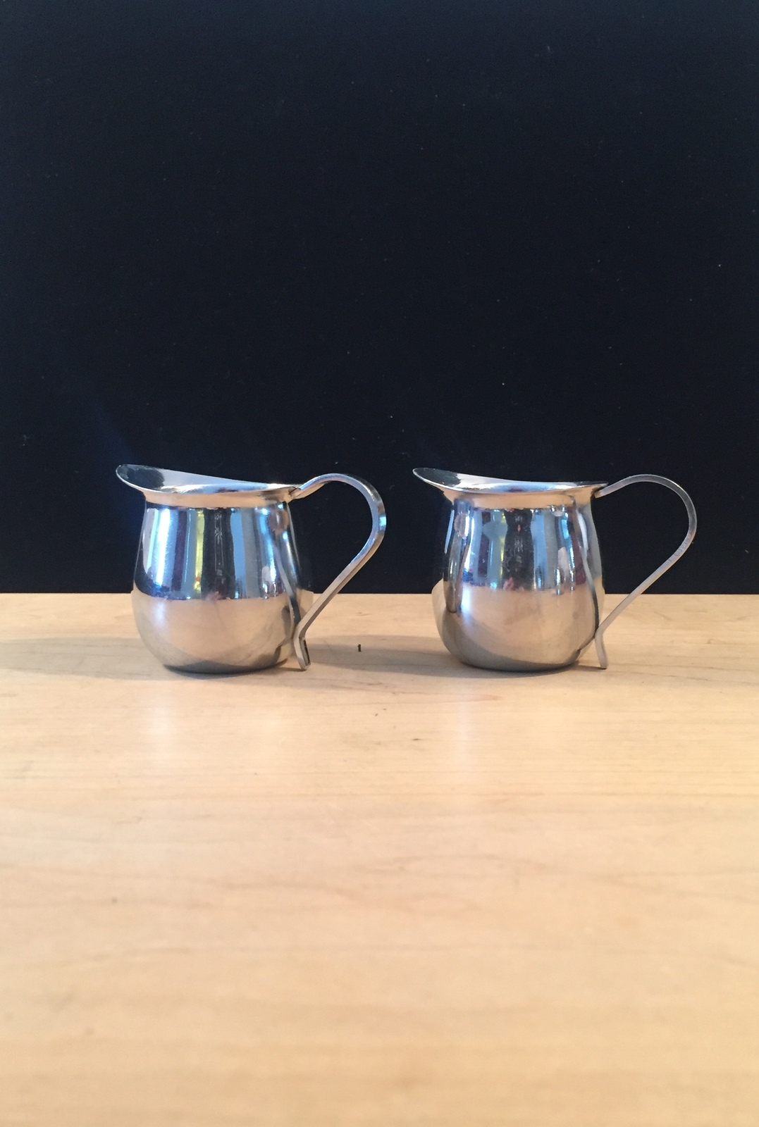 Set of 2 vintage Polar Ware stainless steel creamers/pitchers