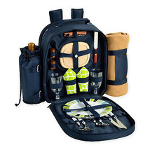 Picnic at Ascot Trellis Collection 2-Person Picnic Backpack with Blanket... - $94.99