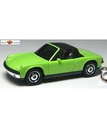 RARE KEY CHAIN MINT GREEN BLACK VW PORSCHE 914/6 TARGA COUPE NEW LIMITED EDITION - $48.98