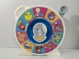 Baby Says See 'n' Say Mattel 1993 vintage used toddler talking toy white - $12.86