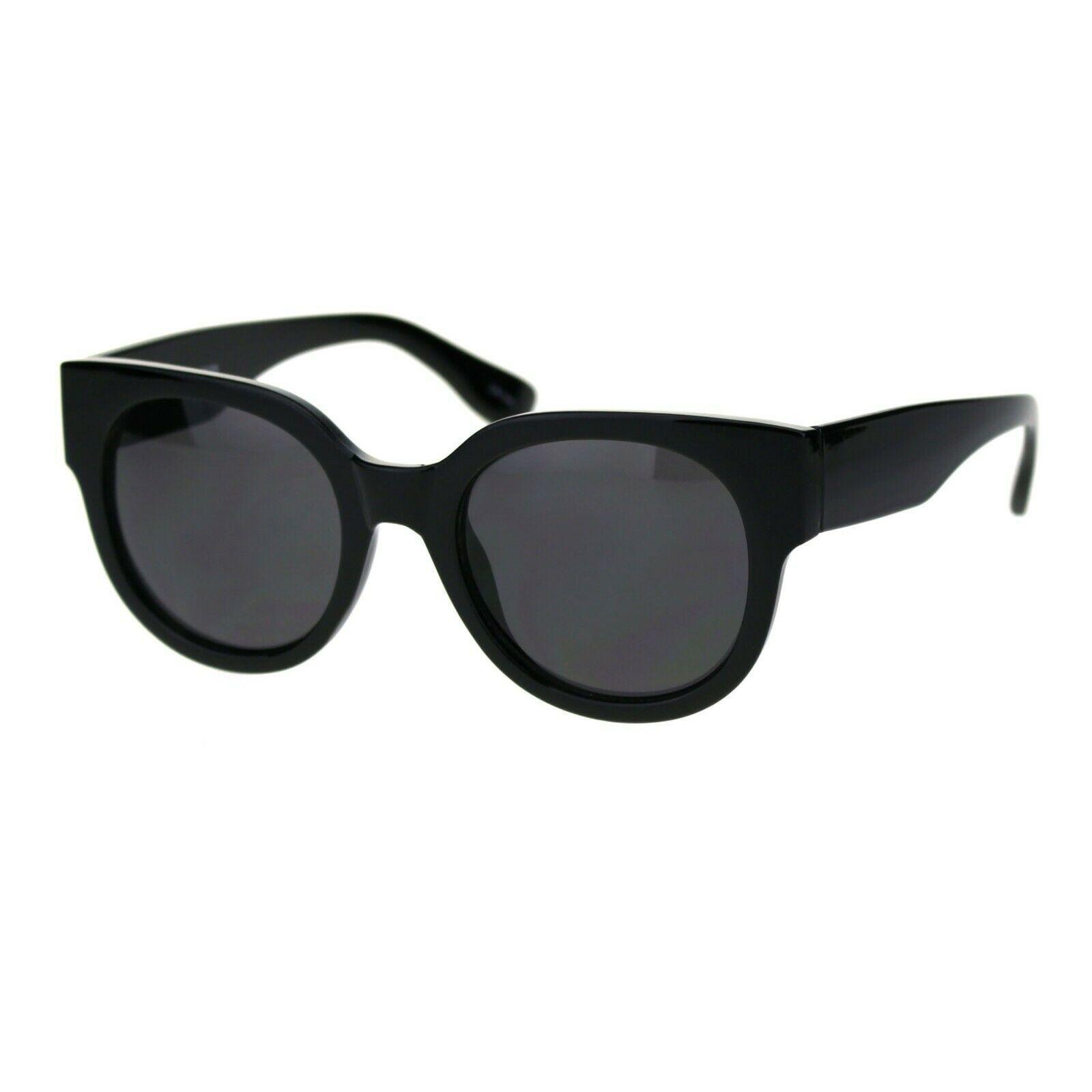 Womens Round Horn Rim Sunglasses Trendy Retro Fashion Shades UV 400 image 3