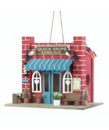 *18080B  Barber Shop Red Brick Eucalyptus Wood Birdhouse - $17.35