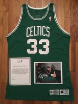 1991-92 Boston Celtics Larry Bird SIGNED / AUTO Pro Cut Jersey 46 + 4 in... - $749.99