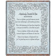Wedding Embroidery Silver Blanket - $53.95