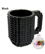 350ml Creative Milk Mug Coffee Cup Building Blocks Cup DIY BLACK TkAtc - $22.99