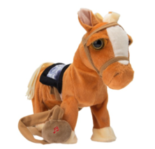 1 Walking Horse Pony Musical Singing Toy Plush Doll Saddle Riding Electr... - $12.19