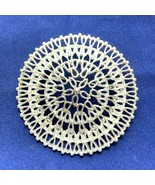 Silver Medallion Brooch Sarah Coventry Openwork Round Filigree Pin - $20.56