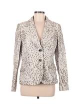 Escada Womens Jacket Size 40 Cheetah Animal Print Silk Neutrals Textured... - $116.09