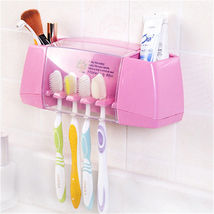Toothbrush Racket Holder Storage Box Bathroom Multifunctional Organizer ... - $23.27