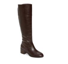 Michael Kors Women Knee High Block Heel Boots Dylyn Leather Barolo - $44.36
