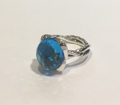 David Yurman Continuance Ring with Blue topaz, 14mm - $385.00