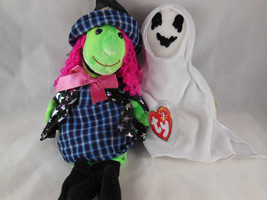 Ty Beanie Babies SHEETS the Ghost + SCARY the witch Mint with covered tags - $9.94