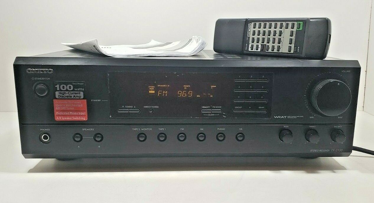 Onkyo Stereo Receiver TX-2100 with Remote and Manual ...Fully Tested