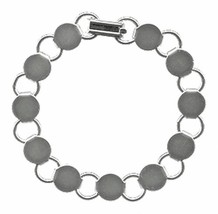 An item in the Crafts category: 1 each BRACELET BLANKS Disk Loop ~Plain Silver Findings FORMS w/ Flat Round PADS