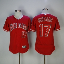 Los Angeles Angeles Shohei Ohtani #17 Red Majestic Flexbase MLB Jersey - $36.99+