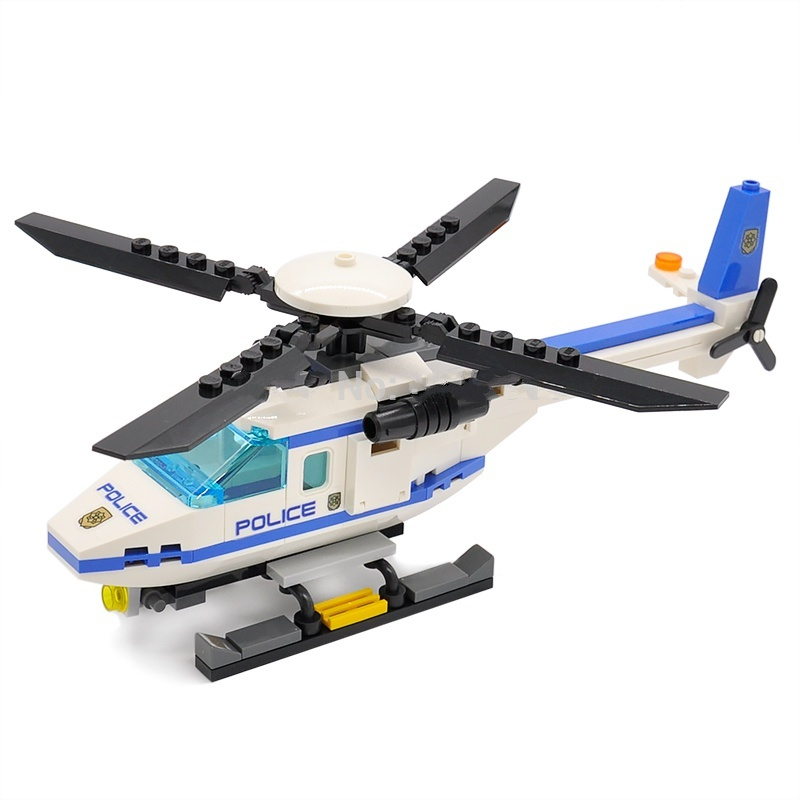 111 pcs City Police Helicopter Building Blocks Educational Toys Fit Lego for sale  USA