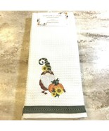 Fall Autumn Gnome Pumpkin Kitchen Embroidered Towels Thanksgiving Holida... - $16.99