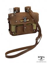 Alchemy Empire Wing Commander Vintage Cotton Canvas & Leather Multi-Use Bag - $148.45