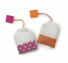 SmartyKat, Tea Teazers, Soft Plush Tea Bags, Cat Toys, Orange & Pink -set of 2  image 2