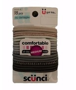 Scunci No Damage All Day Medium Hold Hair Ties, 18 piece  - $7.66