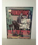"WHITE ZOMBIE - RARE ""FOUNDATIONS"" MAGAZINE- FREE SHIPPING - $12.20"