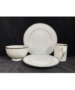 NEW Marshall Fields Marketplace 16pc Platinum Collection Dish Set WINTER... - $128.69
