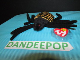 TY Retired Beanie Baby Spinner Spider 1996 With Error Tags Ty - $13.85