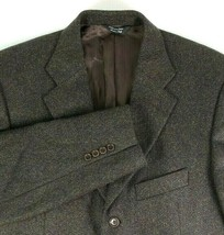 Pronto Uomo Sport Coat Mens Size 42 Regular Wool / Cashmere Blend Brown ... - $39.56