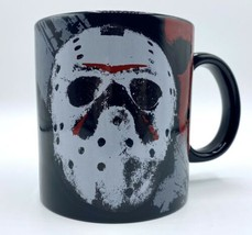 Friday The 13th 20 Oz Coffee Mug Jason Mask Officially Licensed Silver B... - $16.74