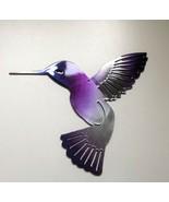 """Hummingbird  Purple Tinged Metal Wall Art Decor 6"""" x 6"""" - $10.88"""